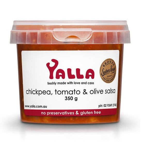 Yalla Salsa Chickpea, Tomato and Olive 350g , Frdg1-Antipasti - HFM, Harris Farm Markets
