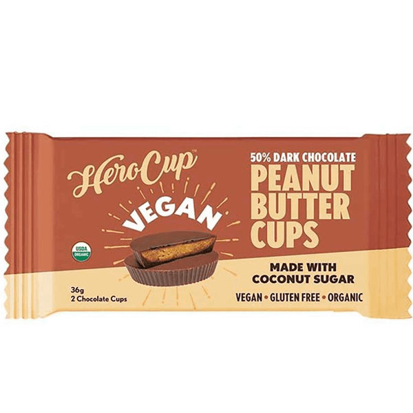 Herocup Dark Chocolate 50% Peanut Butter Cups | Harris Farm Online
