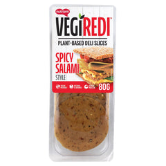 Vegiredi - Plant Based Deli Slices - Spicy Salami Style (80g)