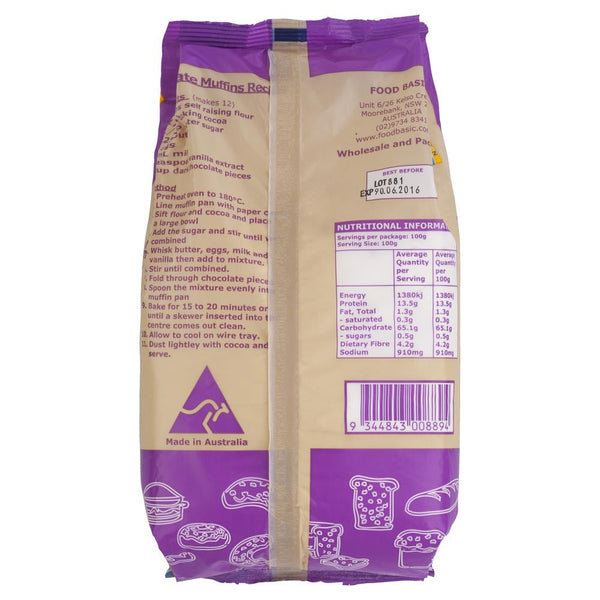 Golden Shore Self Raising Flour 1kg , Grocery-Cooking - HFM, Harris Farm Markets  - 2