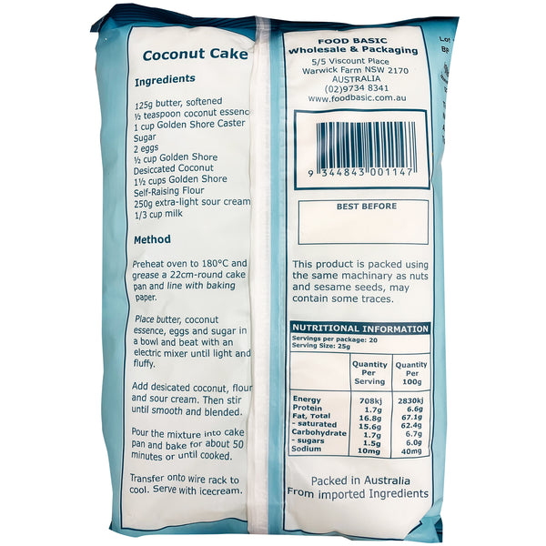 Golden Shore - Desiccated Coconut (500g)