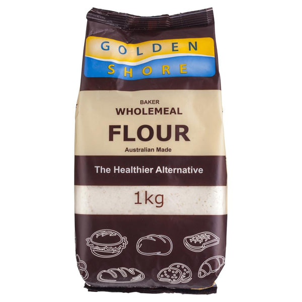 Golden Shore Baker Wholemeal Flour 1kg , Grocery-Cooking - HFM, Harris Farm Markets  - 1