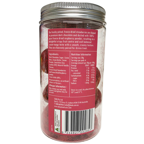 Absolute Good - Dark Chocolate Coated - Strawberries Dusted (120g Jar)
