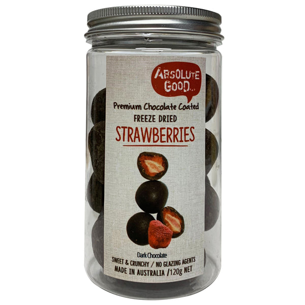 Absolute Good - Dark Chocolate Coated - Strawberries (120g)