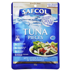 Safcol Tuna Pieces Lemon and Cracked Pepper in Springwater 100g