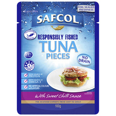 Safcol Tuna Pieces Sweet Chilli Sauce 100g