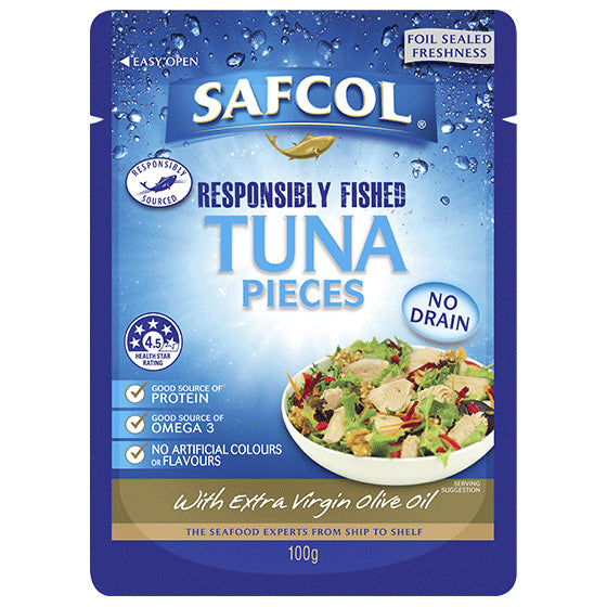 Safcol - Tuna Pieces - with Extra Virgin Olive Oil (100g)