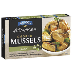 Safcol Delicatessen Smoked Mussels in Oil 85g