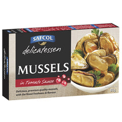 Safcol Delicatessen Smoked Mussels in Tomato Sauce 85g