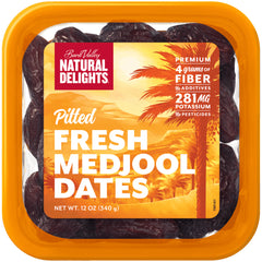 Dates - Pitted Medjool Dates - Packet (340g) Natural Delights