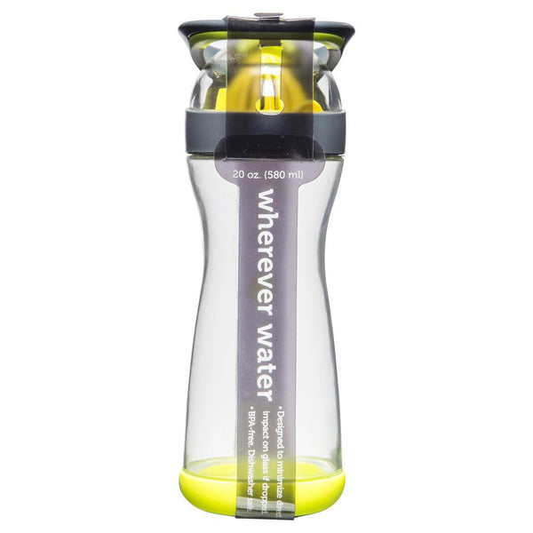 Full Circle Lemon Water Glass Bottle Green 580ml , Grocery-Pantry - HFM, Harris Farm Markets  - 2