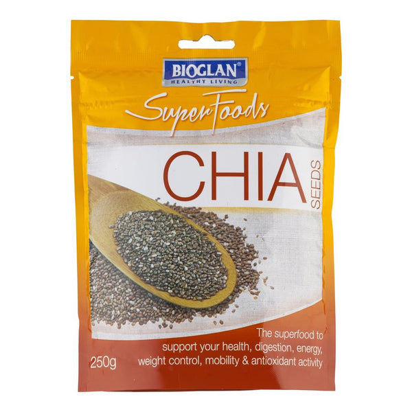 Bio Glan Super Foods Chia Seeds 250g , Grocery-Asian - HFM, Harris Farm Markets  - 1