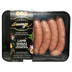 The Gourmet Sausage - Lamb Shiraz with Middle Eastern Spice | Harris Farm Online