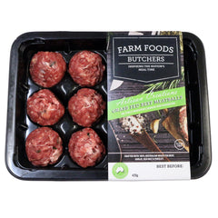 Beef - Meatballs Grass Fed (12 Meatballs, 420g) Farm Foods