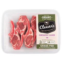 Cleaver's Organic Free Range and Grass Fed Lamb Cutlets 150-350g