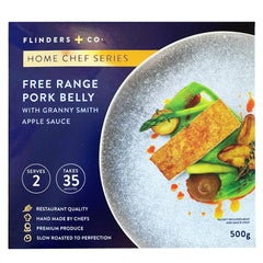 Flinders And Co Free Range Pork Belly With Granny Smith Apple Sauce | Harris Farm Online