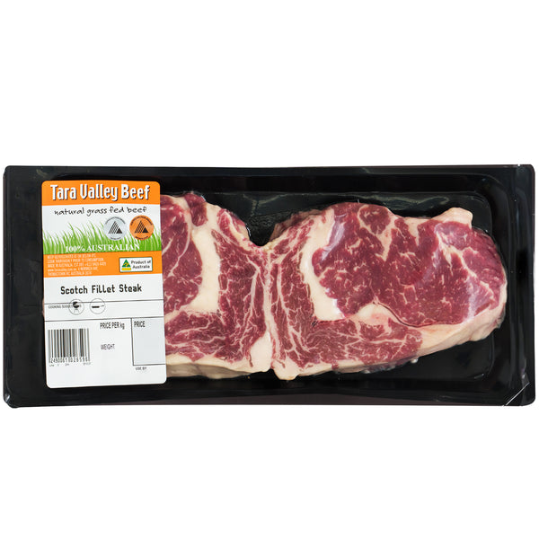 Beef - Scotch Fillet Steak - Grass Fed (400-600g) Tara Valley