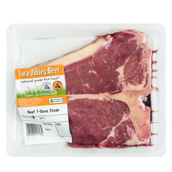 Tara Valley Beef T-Bone Steak Grass Fed | Harris Farm Online