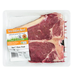 Beef - T-Bone Steak - Grass Fed (550g-850g)