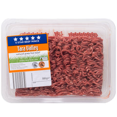 Tara Valley 5 Star Grass Fed Beef Mince 500g