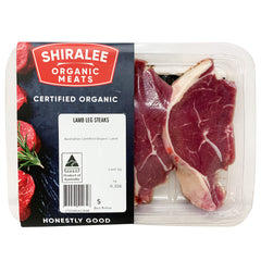 Lamb - Leg Steaks - Organic (3 pieces, 220-420g) Shiralee