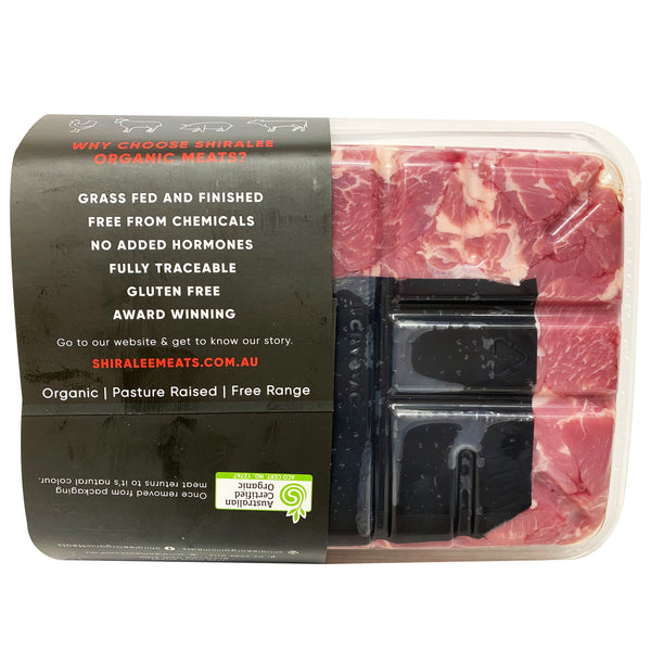 Lamb - Diced Shoulder - Organic (400-600g) Shiralee