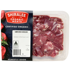 Shiralee Organic Lamb Diced Shoulder 400-600g