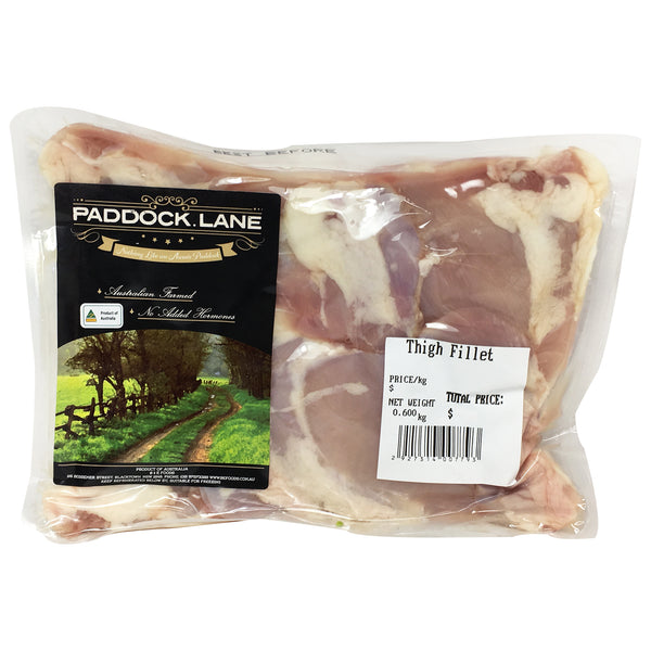 Chicken - Thigh Fillets (4 pieces, 500-800g) Paddock Lane