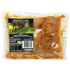 Chicken - Tenderloins - Lemon & Pepper (500g) Paddock Lane