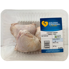 Chicken - Thigh Fillet Bone In (400-700g) Golden Cockerel