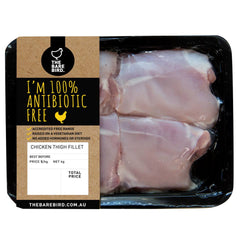 The Bare Bird Antibiotic Free Chicken Thigh Fillets 450-600g