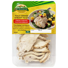 Mt Barker - Carved Chicken Breast - Fully Cooked & Ready to Eat (250g)