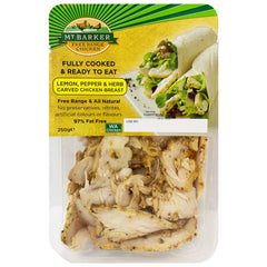 Mt Barker Fully Cooked and Ready to Eat Lemon, Pepper and Herb Carved Chicken Breast 250g