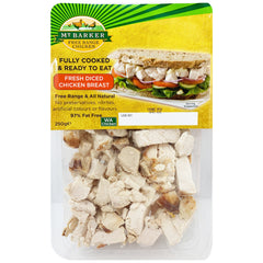 Mt Barker Fully Cooked and Ready to Eat Diced Chicken Breast 250g