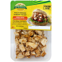 Mt Barker Fully Cooked and Ready to Eat Peri Peri Diced Chicken Breast 250g