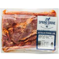 Lamb - Leg Butterflied - Rosemary, Mint and Garlic (700g-1.2kg) Spring Grove