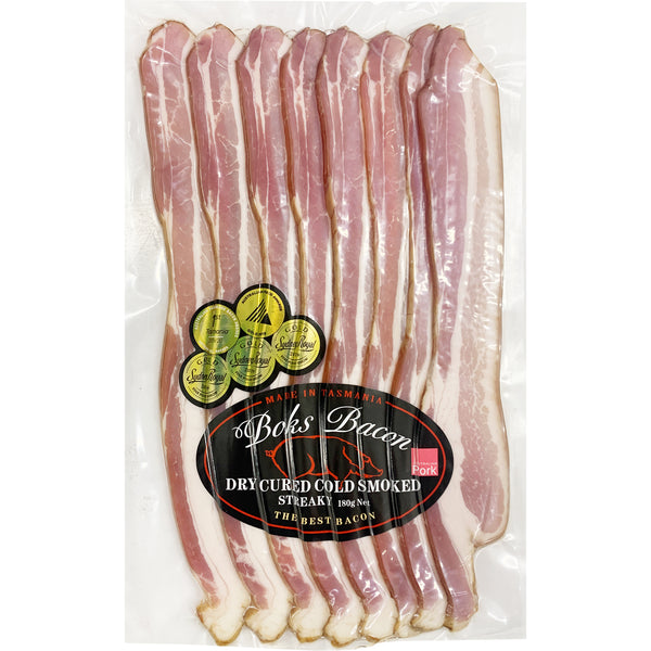 Boks Dry Cured Cold Smoked Streaky Bacon | Harris Farm Online
