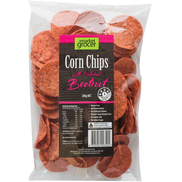 The Market Grocer Corn Chips Beetroot | Harris Farm Online