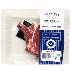 Beef - Rib Eye on Bone (250-600g) Swan Bay Butchers