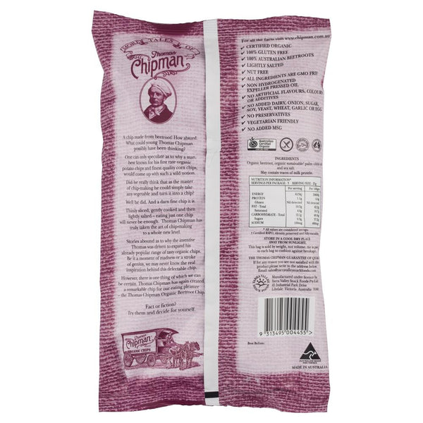 Thomas Vegetable Beetroot Chips 75g , Grocery-Confection - HFM, Harris Farm Markets  - 2