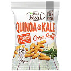 Eat Real Quinoa and Kale Corn Puffs Jalapeno and Cheddar | Harris Farm Online
