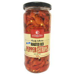 Sandhurst - Roasted Red Pepper Strips (465g)
