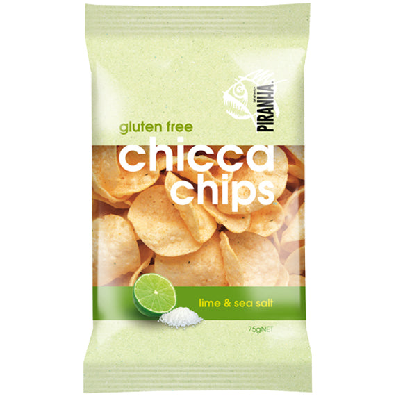 Piranha Gluten Free Chicca Chips Lime and Sea Salt | Harris Farm Online