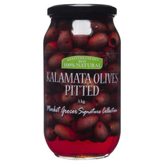 Market Grocer Kalamata Olives Pitted 1kg , Grocery-Antipasti - HFM, Harris Farm Markets  - 1