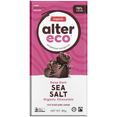 Alter Eco Organic 70% Dark Chocolate Sea Salt | Harris Farm Online