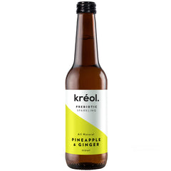 Kreol - Probiotic Sparkling Drink - Pineapple and Ginger (330mL)