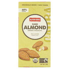 Alter Eco Dark Chocolate Almond 80g , Grocery-Confection - HFM, Harris Farm Markets  - 1