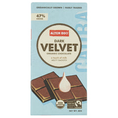 Alter Eco Dark Chocolate Velvet 80g , Grocery-Confection - HFM, Harris Farm Markets  - 1