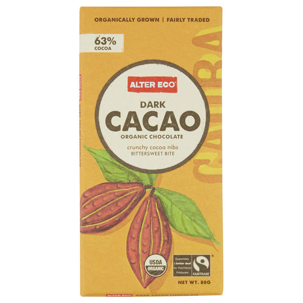 Alter Eco Dark Chocolate Cacao 80g , Grocery-Confection - HFM, Harris Farm Markets  - 1