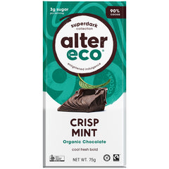 Alter Eco Organic 90% Superdark Chocolate Crisp Mint | Harris Farm Online